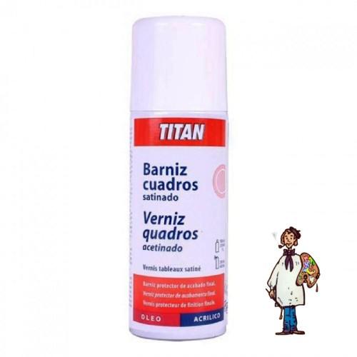 BARNIZ SPRAY CUADROS SATINADO TITAN 400 ml.