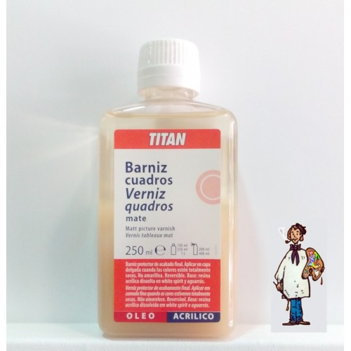 BARNIZ CUADROS MATE OPAL TITAN 250ml