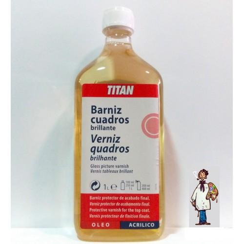 BARNIZ CUADROS BRILLANTE TITAN 1L
