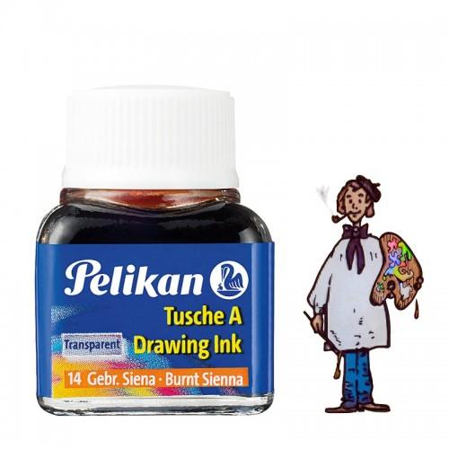 Tinta china Pelikan - Nº 14 Siena Tostada