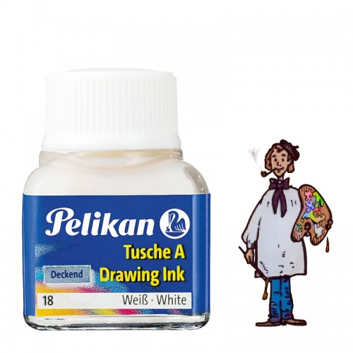 Tinta china Pelikan - nº 18  Blanco