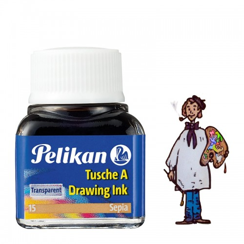 Tinta china Pelikan - Nº 15 Sepia