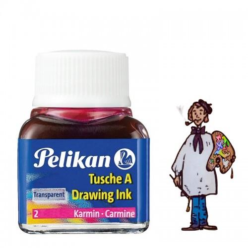 Tinta china Pelikan - nº 2 Carmín