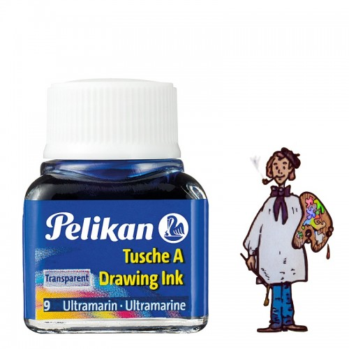 Tinta china Pelikan – nº  9 Azul Ultramar