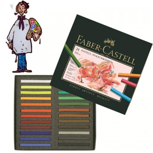 Caja  Pastel Faber Castell 24  colores