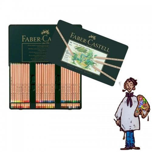 Caja metálica lápices Pastel Pitt Faber Castell. 60 colores