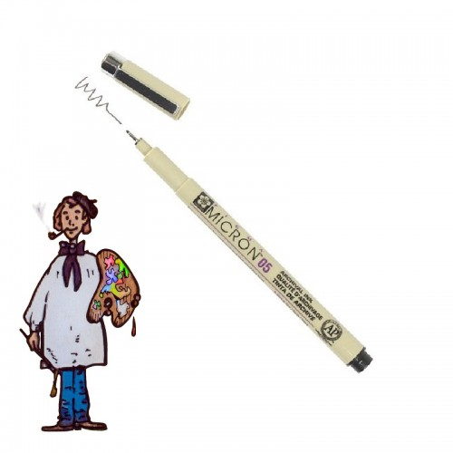 Pigma Micron punta mm 05 negro