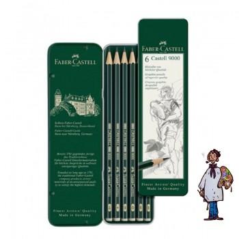 Caja grafito – arte - Castell 9000 - 6 lápices