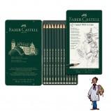 Caja grafito – arte - Castell 9000 - 12 lápices