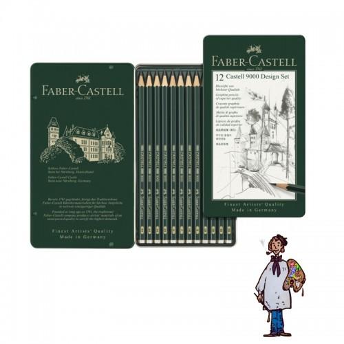 Caja grafito - diseño Castell 9000 - 12 lápices