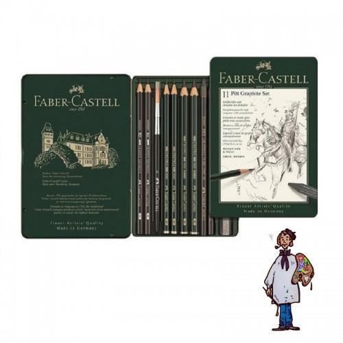 Caja Set grafitos Faber Castell 11 piezas