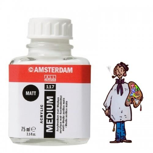 Amsterdam medio para acrílico mate 117 - 75ml