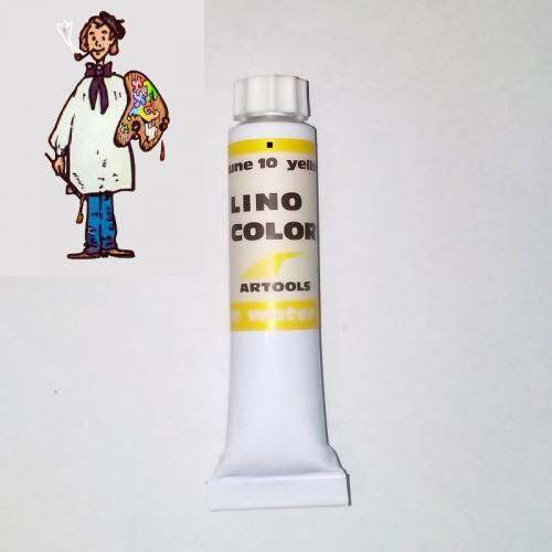 Linocolor  al agua 20ml - amarillo 10