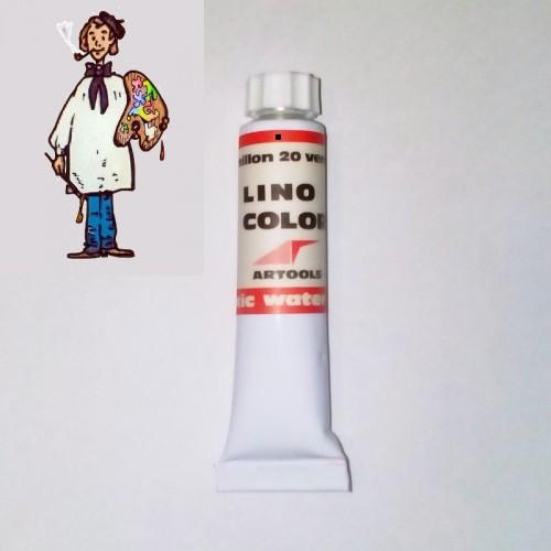 Linocolor  al agua 20ml - bermellón 20