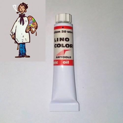 Linocolor  al óleo 20ml - bermellón 20