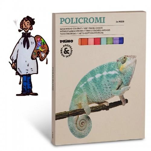 Caja  Tizas cuadradas policromi de 24 colores