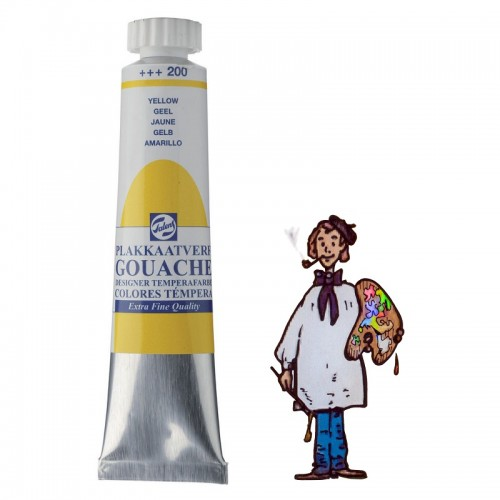 Témpera gouache Talens tubo 20ml amarillo 200