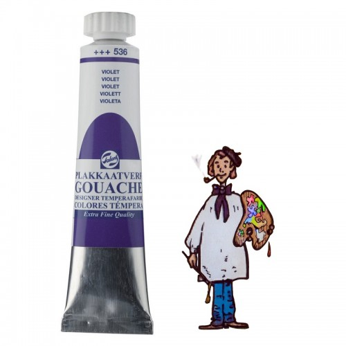 Témpera gouache Talens tubo 20ml violeta 536