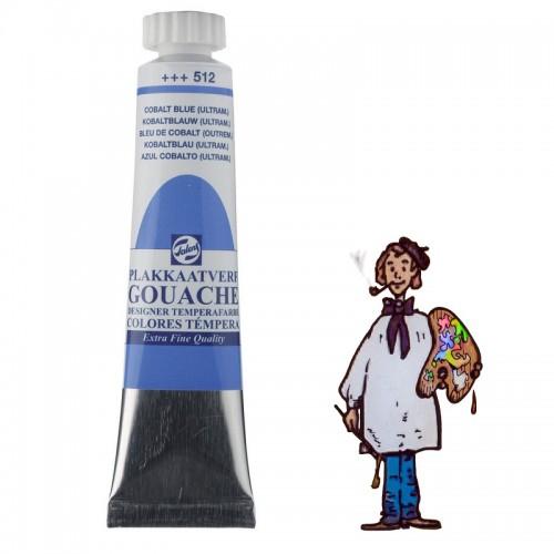 Témpera gouache Talens tubo 20ml azul cobalto ultra 512