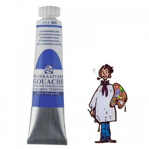Témpera gouache Talens tubo 20ml azul ultramar oscuro 506
