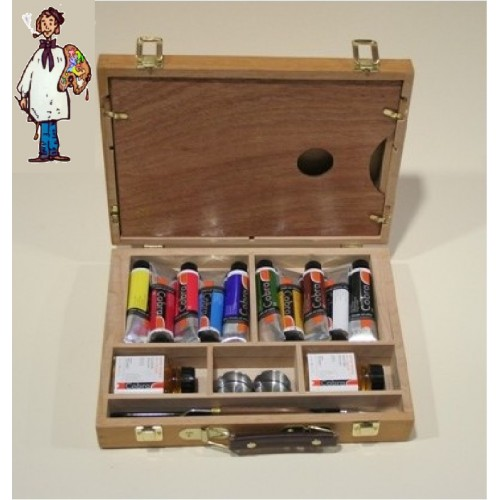 Caja madera óleos profesional COBRA ARTIST 40ml