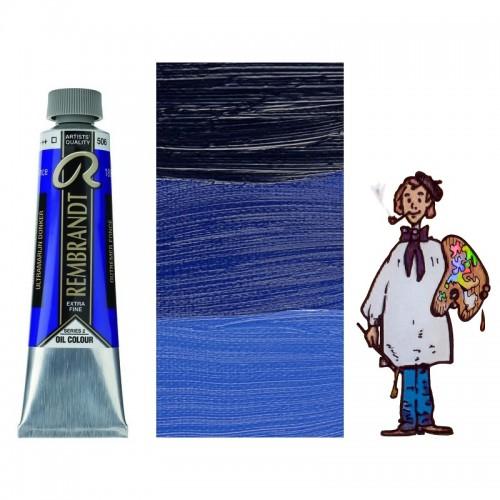Rembrandt óleo 40ml - AZUL ULTRAMAR OSCURO 506 s2 - T