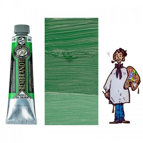Rembrandt óleo 40ml - VERDE COBALTO TURQUESA 682 s5 - S/O
