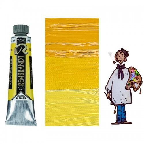 Rembrandt óleo 40ml - AMARILLO TRANSPARENTE MEDIO 272 s3 - T