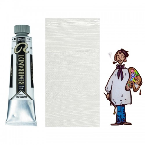 "Rembrandt óleo 40ml - BLANCO TITANIO ""aceite de alazor""105 s1"