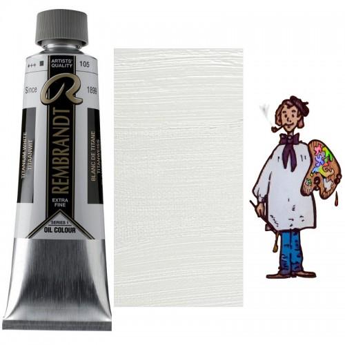 "Rembrandt óleo 150ml - BLANCO TITANIO ""aceite de alazor""105 s1"