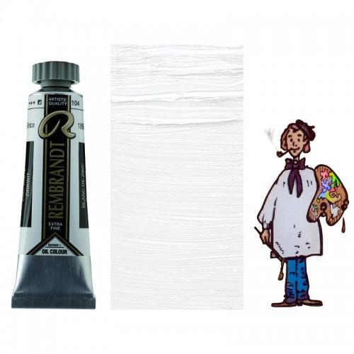 """Rembrandt óleo 40ml - BLANCO CINC """"aceite de alazor""""104 s1-S/O"""