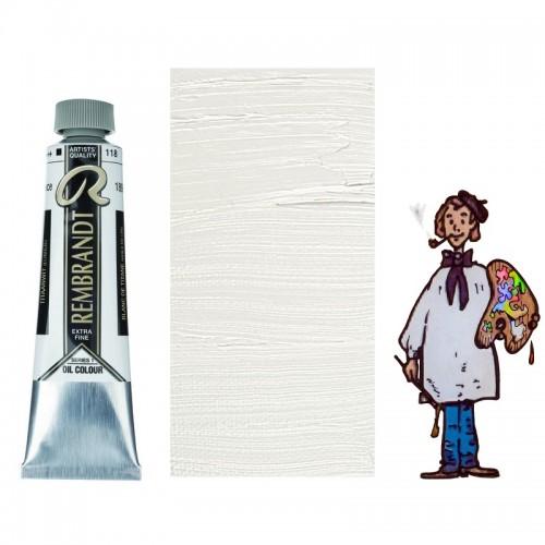 "Rembrandt óleo 40ml - BLANCO TITANIO ""aceite linaza"" 118 s1 - O"