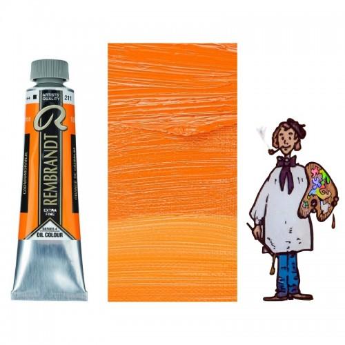 Rembrandt óleo 40ml - ANARANJADO DE CADMIO 211 s4 - O