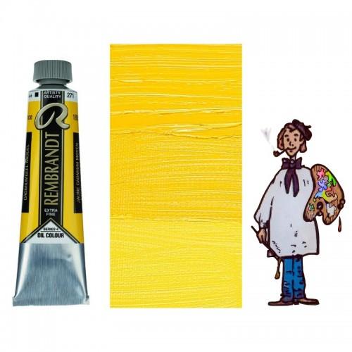 Rembrandt óleo 40ml - AMARILLO CADMIO MEDIO 271 s4 - O