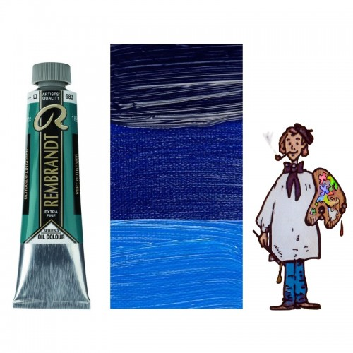 Rembrandt óleo 40ml - AZUL ULTRAMAR VERDE 683 s3 - T