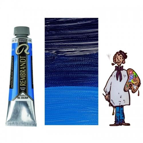 Rembrandt óleo 40ml - AZUL FTALO VERDE 576 s3 - T
