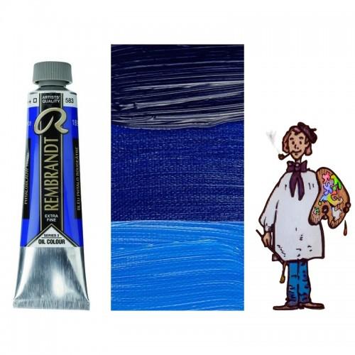 Rembrandt óleo 40ml - AZUL FTALO ROJO 583 s3 - T