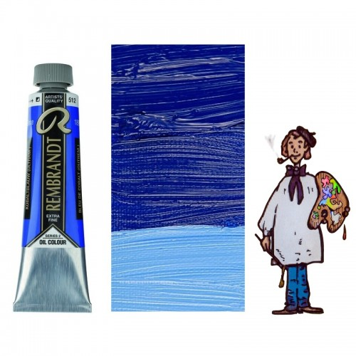 Rembrandt óleo 40ml - AZUL COBALTO ULTRAMAR 512 s2 - S/O