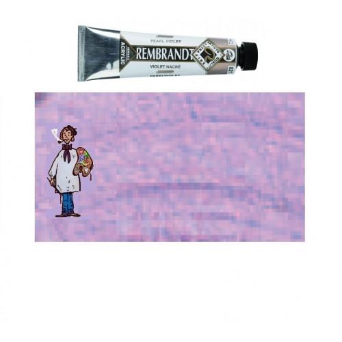 Acrílico Rembrandt VIOLETA PERLA 821 40ml – s2