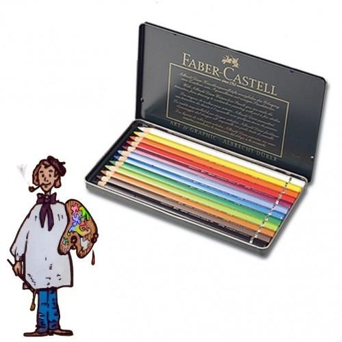 Caja metálica 12 polychromos Faber Castell para Artistas.