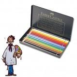 Caja metálica polychromos Faber Castell para Artistas. 12 colores
