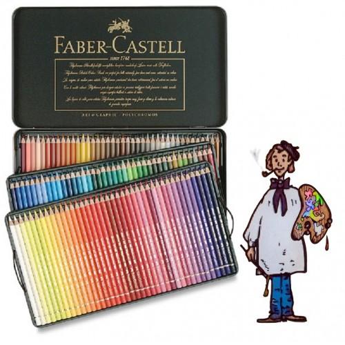 Caja metálica 120 polychromos Faber Castell para Artistas.