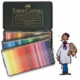 Caja metálica polychromos Faber Castell para Artistas. 120 colores