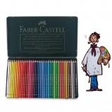 Caja metálica  polychromos Faber Castell para Artistas. 36 colores