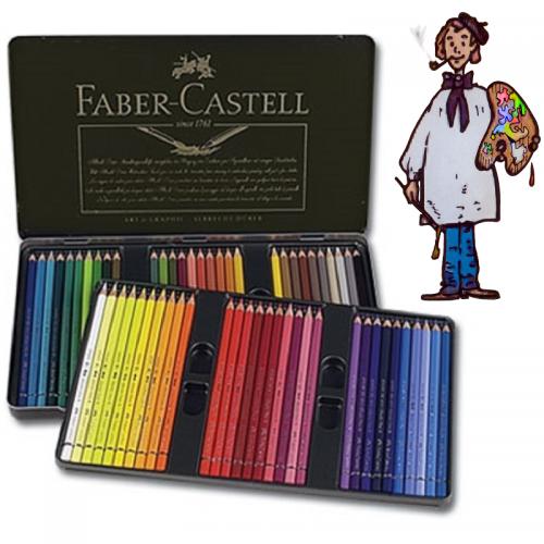 Caja metálica 60 polychromos Faber Castell para Artistas.