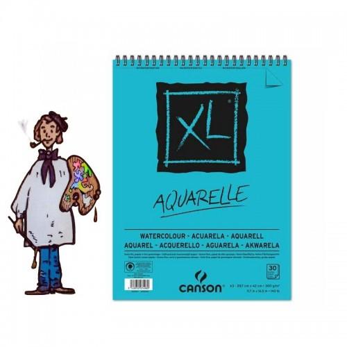 Album Block Espiral 29,7x42 30H Canson XL Acuarela Fino 300g
