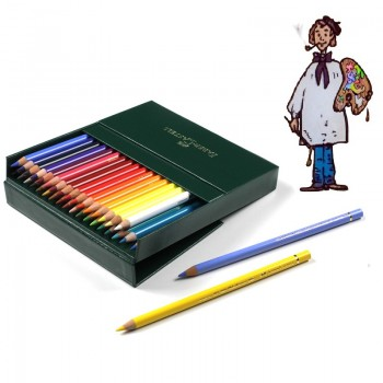 Estuche 36 lápices Polychromos Faber Castell imitación piel