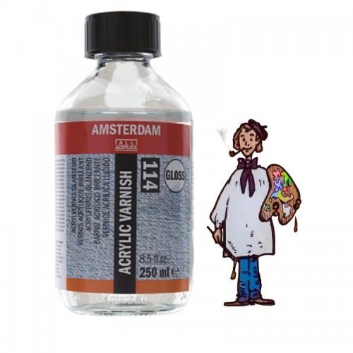Barniz acrílico brillante 114 Amsterdam Talens, 250 ml.