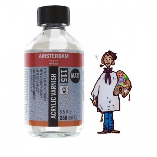 Barniz acrílico mate 115 Amsterdam Talens, 250 ml.