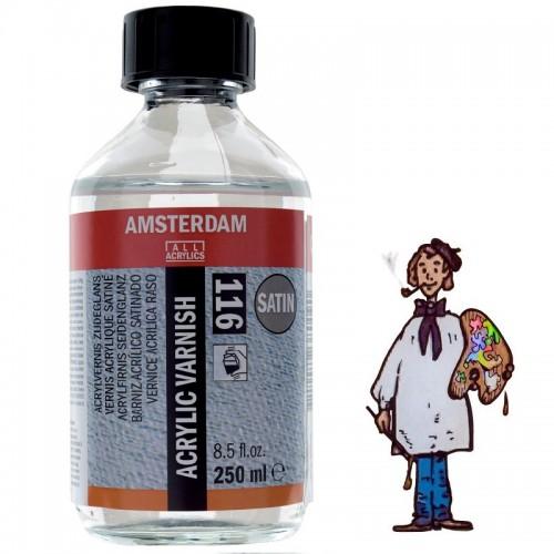 Barniz Acrílico Satinado 116 Amsterdam Talens, 250 Ml.